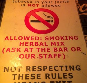 Amsterdam smoking tobacco not allowed