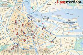 carte pour le tourisme à Amsterdam