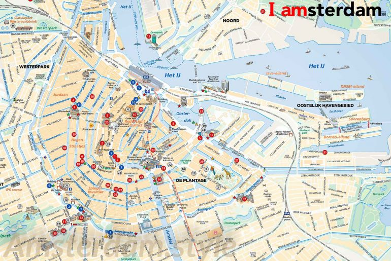 Map to visit Amsterdam