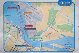 Plan du ferry à Amsterdam
